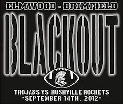 Elmwood Black Out  Easter Seals Brimfield Trojans